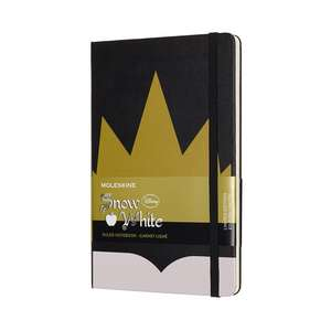 Moleskine Snow White Limited Edition Crown Large Ruled Notebook Hard