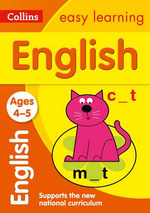 Collins Easy Learning Age 3-5 -- English Ages 4-5