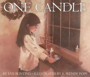 One Candle de Eve Bunting