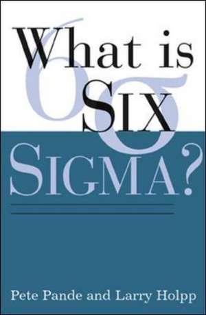 What Is Six Sigma? de Peter Pande