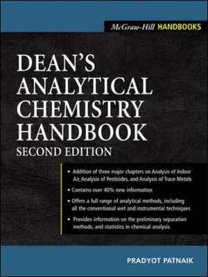 Dean's Analytical Chemistry Handbook de Pradyot Patnaik