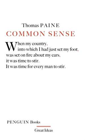 Common Sense de Thomas Paine