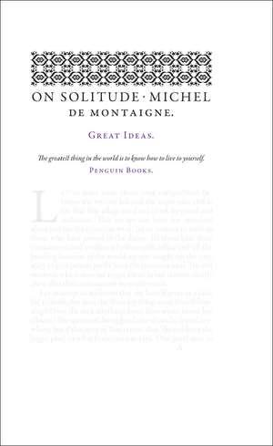 On Solitude de Michel de Montaigne