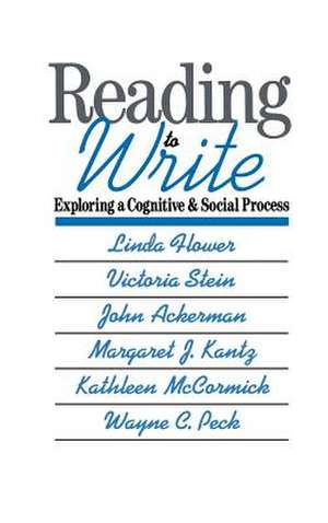 Reading-to-Write: Exploring a Cognitive and Social Process de Linda Flower