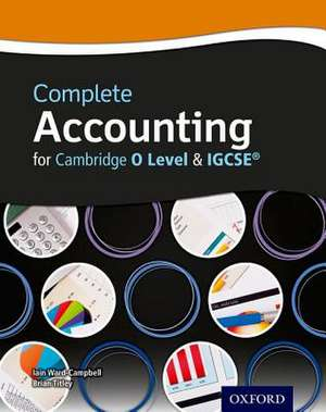 Complete Accounting for Cambridge O Level & Igcserg
