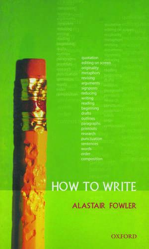 How to Write de Alastair Fowler