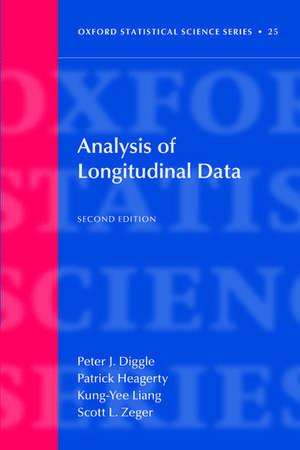 Analysis of Longitudinal Data de Peter Diggle