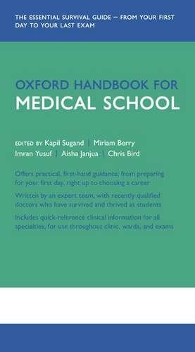 Oxford Handbook for Medical School de Kapil Sugand