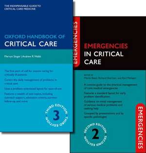 Oxford Handbook of Critical Care Third Edition and Emergencies in Critical Care Second Edition Pack imagine