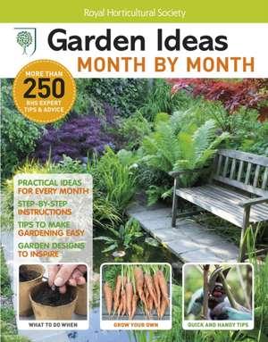Cartea rhs garden ideas month by month bookazine dk for Garden design ideas book