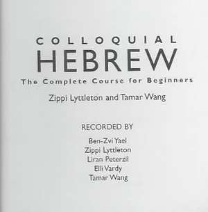 Colloquial Hebrew (eBook and MP3 Pack)
