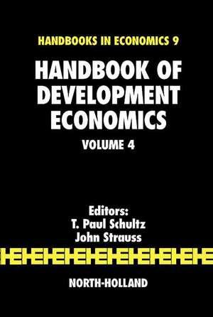 Handbook of Development Economics de T. Paul Schultz