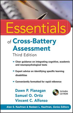 Essentials of Cross–Battery Assessment de Dawn P. Flanagan