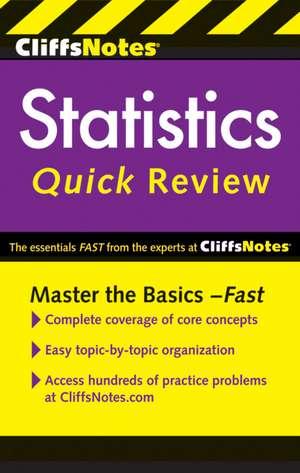 CliffsNotes Statistics Quick Review, 2nd Edition de Scott Adams