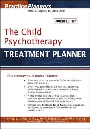 The Child Psychotherapy Treatment Planner de Arthur E. Jongsma, Jr.