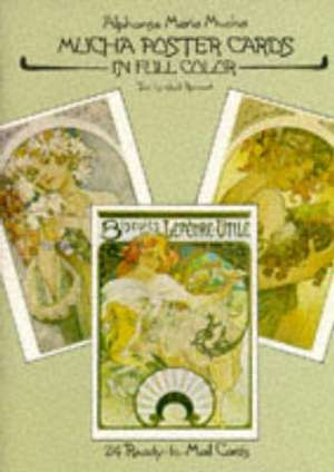 Mucha Posters Postcards:  24 Ready-To-Mail Cards de Alphonse Mucha