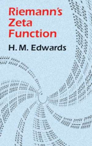 Riemann's Zeta Function:  Simple Experiments in Atmospheric Physics de H M. Edwards