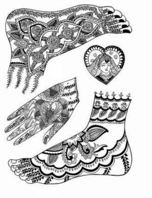 Mehndi Designs:  Traditional Henna Body Art de Marty Noble