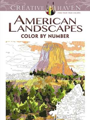 Creative Haven American Landscapes Color by Number Coloring Book de Diego Jourdan Pereira