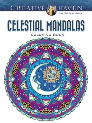 Creative Haven Celestial Mandalas Coloring Book imagine