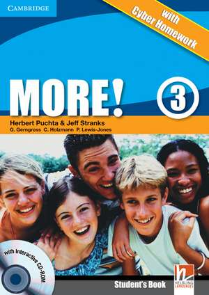 More! Level 3 Turkish Edition Student's Book with CD-ROM with Cyber Homework, Workbook with Audio CD and Extra Practice Book Pack de Herbert Puchta
