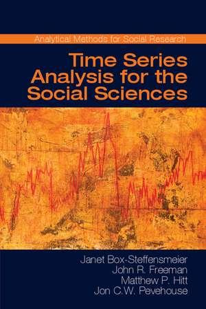 Time Series Analysis for the Social Sciences de Janet M. Box-Steffensmeier