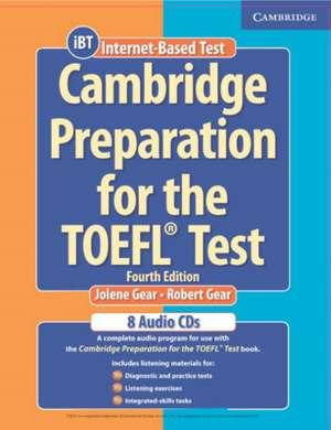 Cambridge Preparation for the TOEFL® Test Audio CDs (8) de Jolene Gear