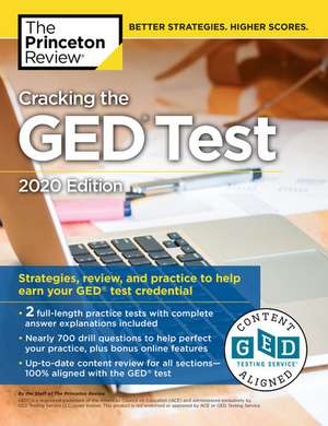 Cracking the GED Test with 2 Practice Tests de Princeton Review