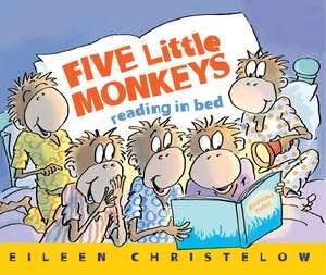 Five Little Monkeys Reading in Bed de Eileen Christelow