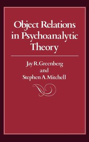 Object Relations in Psychoanalytic Theory imagine