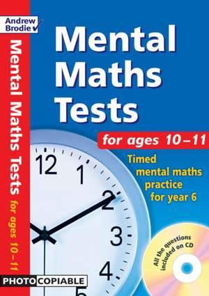Mental Maths Tests for Ages 10-11