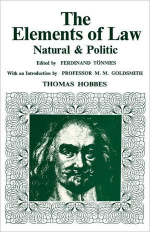 Elements of Law, Natural and Political de Thomas Hobbes