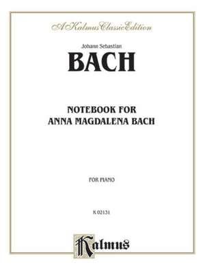 Notebook for Anna Magdalena Bach de Johann Sebastian Bach