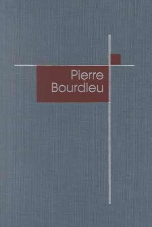 Pierre Bourdieu de Derek Robbins