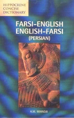 Farsi-English/English-Farsi Concise Dictionary:  English-Chinese/Chinese-English de  Miandji