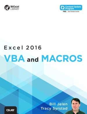 Excel 2016 VBA and Macros de Bill Jelen