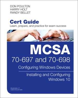 McSa 70-697 and 70-698 Cert Guide de Don Poulton