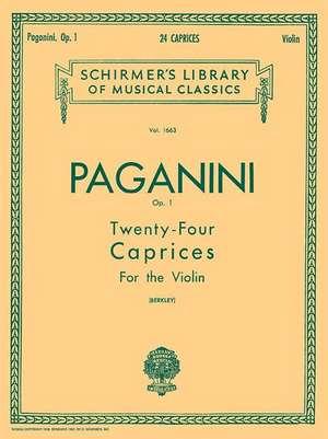 24 Caprices, Op. 1: Schirmer Library of Classics Volume 1663 Violin Solo de Niccolo Paganini