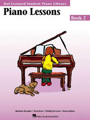 Piano Lessons Book 2:  Hal Leonard Student Piano Library de Hal Leonard