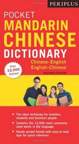 Periplus Pocket Mandarin Chinese Dictionary imagine