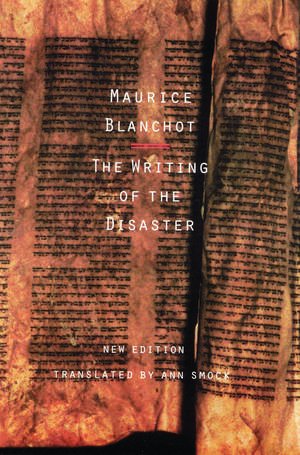 The Writing of the Disaster imagine