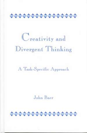 Creativity and Divergent Thinking de John Baer