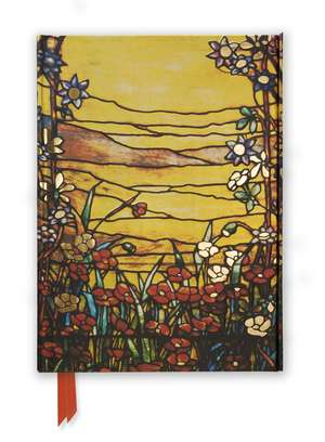 Tiffany: Red Flowers and a Stream (Foiled Journal) de Flame Tree Studio