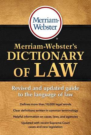 Merriam-Webster's Dictionary of Law imagine
