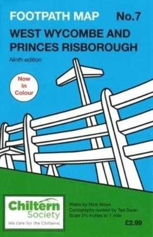Footpath Map No. 7 West Wycombe and Princes Risborough de Nick Moon