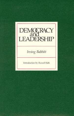 Democracy and Leadership imagine
