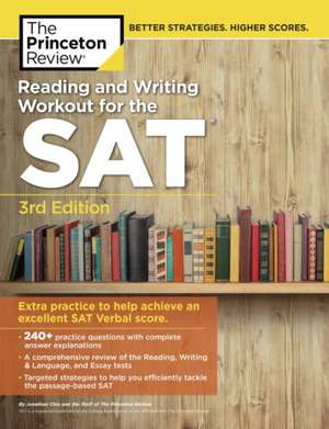 Reading & Writing Workout for the SAT, 3rd Edition