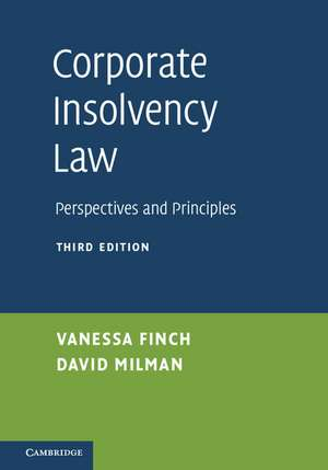 Corporate Insolvency Law: Perspectives and Principles de Vanessa Finch