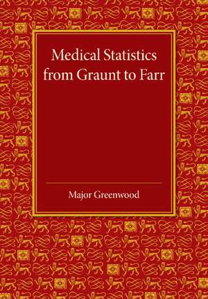 Medical Statistics from Graunt to Farr