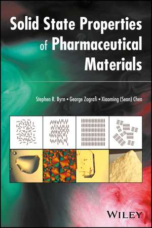 Solid–State Properties of Pharmaceutical Materials